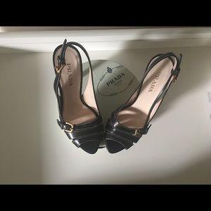 Prada Black stiletto heels
